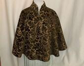 Bronze Brocade Capelet- Short Costume Cape