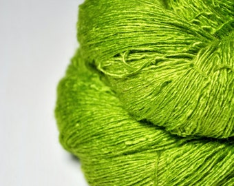 Poisonous lettuce - Tussah Silk Lace Yarn