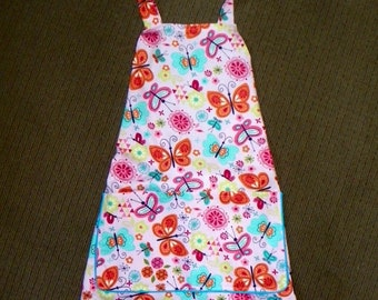 A Style Apron Beautiful Floral Butterflies