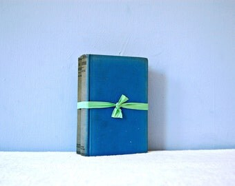 1920s French Romance Adventure Novels Historical Fiction Hardback Decorative Blue Hardcover Books Embossed Scaramouche Sabatini Carolinian