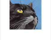 "Open edition print, ""Black Cat, White Mustache"" signed"