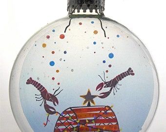 Little Lobsters Christmas Holiday Ornament