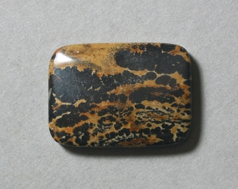 PAINTING JASPER cabochon rectangle 22X30mm designer cab
