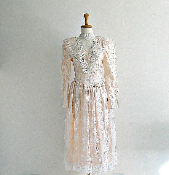Vintage 80s Jessica Mcclintock Dress 80s Dress Gunne Sax