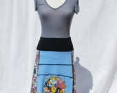 Recycled tee shirt skirt  large L0089