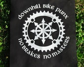 Downhill Bike Punx - backpatch and free patch (30 different designs available)