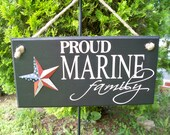 Marine Corps, us marines, military sign, Proud Marine Family, sign, family sign,