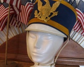 Vintage Marching Band Uniform Parade Hat with Eagle