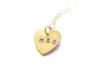 gold letter necklace initial charm jewelry personalized pendant small custom heart romantic anniversary wife girlfriend womens gift for her