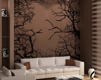 Vinyl Wall Decal Sticker Branches Square 5308B