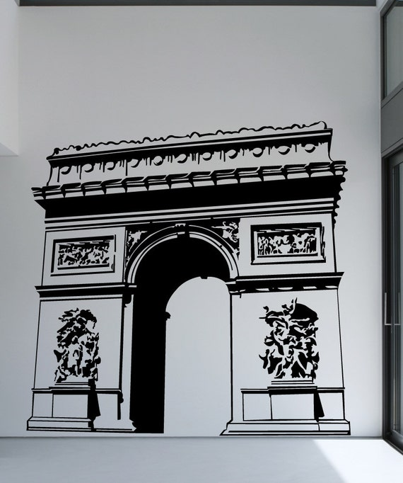 Vinyl wall decal sticker arc de triomphe 1361b for Arc de triomphe wall mural