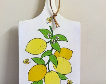 Retro Bread Board - Lemons and Bees Japan
