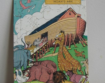 Vintage Puzzle Noah's Ark by Standard Publishing USA Animals Boat, Classic Religious Bible Story, Game Toy