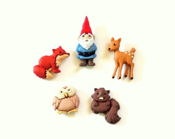 Woodland Gnome Magnet Set