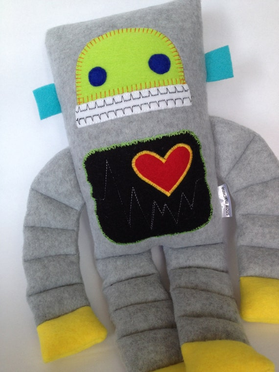Herbie the Robot Plush by Busybot on Etsy