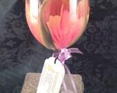 Stemware Hand Painted, Hand Painted wine glass, Wedding Drinkware, Shower gift Set of 2