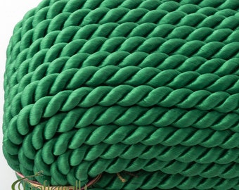 Twisted cord - 5mm - emerald green (A7801) - 1 meter