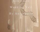 Ivory Firm Silk Tulle Cathedral Length Veil