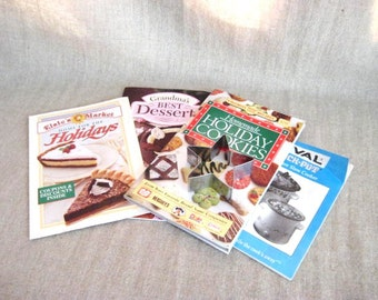 Cooking Booklet Collection / 2 Vintage Cooking Pamphlets + 1 Newer