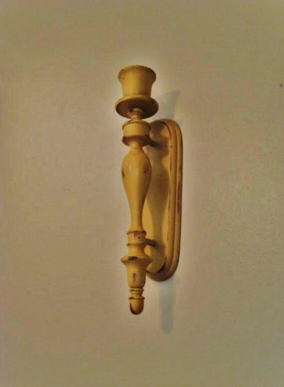French Country Wall Sconces For Candles : French Country Candle Sconce in Honey Mustard / by dewdropdaisies
