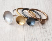 Stackable Ring, Stacking Sterling Silver, Yellow Gold, Rose Gold, Black Oxide Rings, Minimalist Dainty Stacking Rings, Stackable Rings