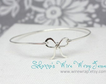 Bow Bangle, Forget Me Knot, Bow Bracelet, Bow Arm Cuff