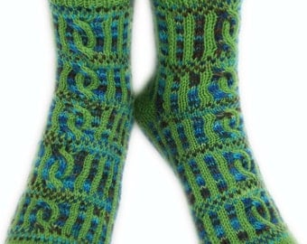 ROMAN FORUM SOCKS - Superwash Merino, Merino, Alpaca Wool, Nylon