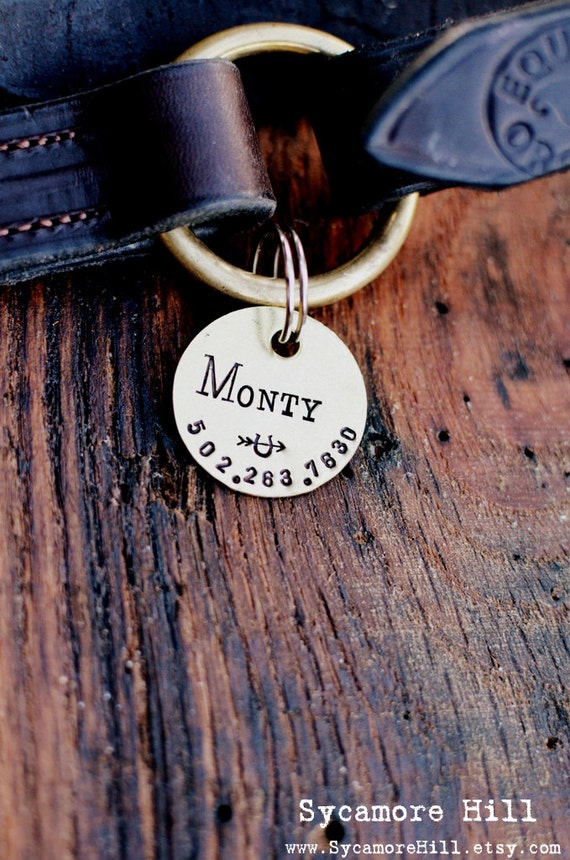 BRIDLE or HALTER Tag - Hand Stamped. Personalized Tags. Custom Horse Saddle I.D. Identification Tag for Pets with Phone Number and Name.
