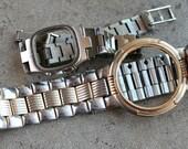 Wrist watch bracelets with empty cases -- set of 2 -- D17