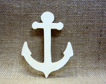 Wooden Anchor Cutouts Unfinished Lot Of 5 Nautical