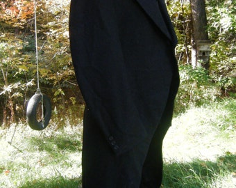 """Vintage 1800's early Century Fine Wool Victorian Tuxedo with Tails chest 40"""""""