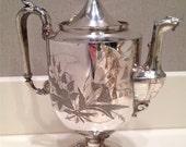 Reed & Barton Silverplate Hot Water Pot, c. 1870-1885