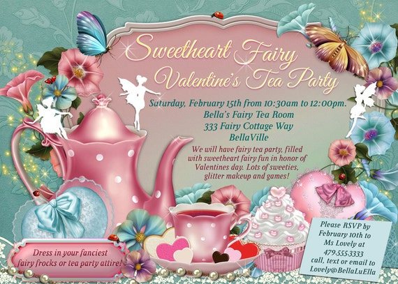 Fairy Tea Party Invitation Birthday Tea Party Tea Party – Fairy Tea Party Invitations