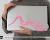 Tentacle in PINK (Removable Vinyl Laptop Sticker Laptop Decal Computer Decal PC Apple Macbook Mac Geekery Wall Sticker Octopus Sea Nature)