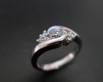 Diamonds Wedding Ring in 14K White Gold