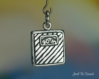 Sterling Silver Bathroom Scale Charm Weight Diet Health Solid .925