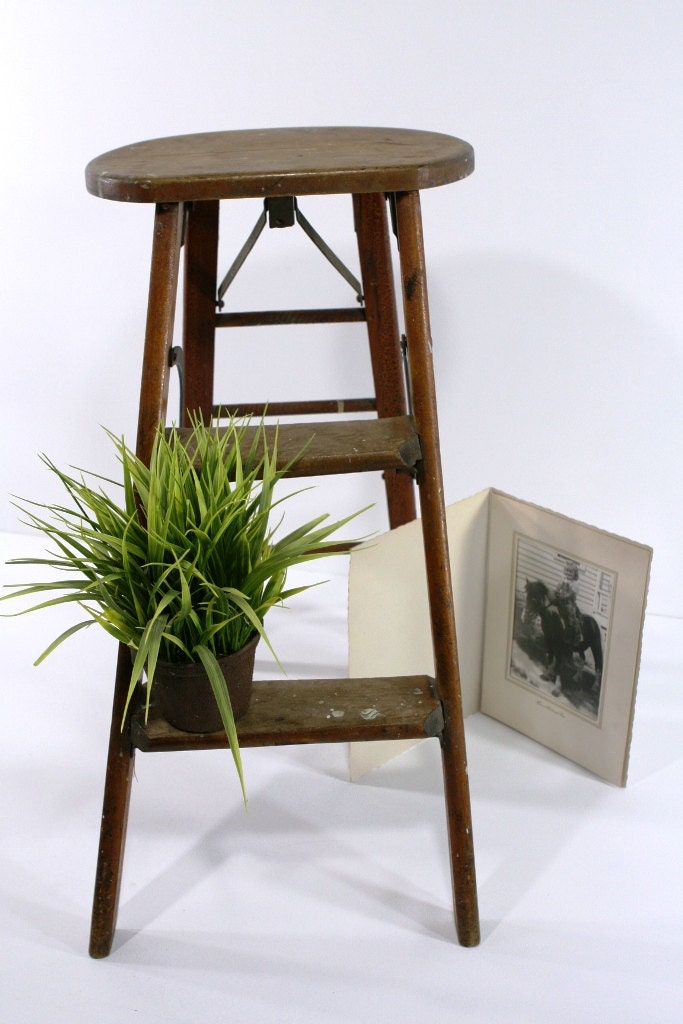 Antique Wooden Step Stool