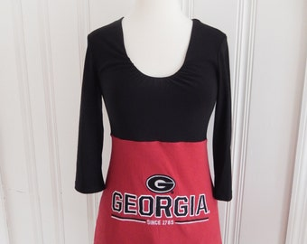 One of a Kind Gameday Shirt made w/ UGA Tshirt - XSmall - On Sale and Free Shipping