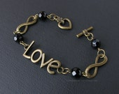 Infinite Love Handmade Bracelet in Antique Gold Finish