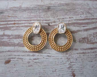 Swarovski Gold and Crystal Earrings