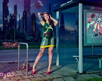 Star Wars Boba Fett Inspired Rubber Latex Dress