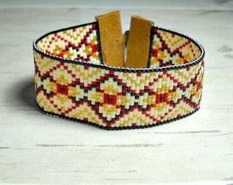 Bead Bracelet -  Seed Bead Bracelet - Womens Bracelet - Cuff Bracelet - Adjustable Bead Bracelet - Mothers Day Gifts