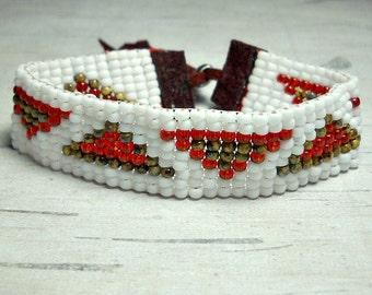 Bead Loom Bracelet Triangles - Bracelet Bead Loom - Bead Bracelet - Womens Bracelet - Adjustable Bracelet