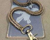Brass And Stainless Steel Snake Wallet Chain