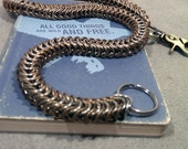 Bronze And Stainless Steel Snake Wallet Chain