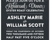 South Carolina Palmetto Moon Chalkboard Style Lowcountry Boil Invitation, Engagement, Rehearsal Dinner, Birthday, Anniversary