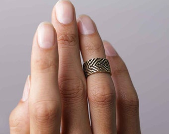 Adjustable Ring - Knuckle Ring - Geometric Ring - Ear Cuff