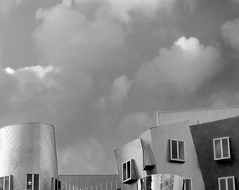 Black and White Photography, Stata Center, MIT, Cambridge, Frank Gehry