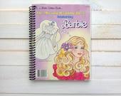 Vintage Barbie/ Vintage Barbie Journal/ Recycled Little Golden Book / Spiral Journal