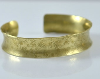 Gold Cuff Bracelet - Hand Forged 14k Gold Filled Cuff Bracelet by Gioielli Designs